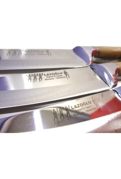 Mutfak Bıçak Seti 3'lü Lazoğlu Sürmene Bilezikli El Yapımı (Bileme Taşı Hediye)