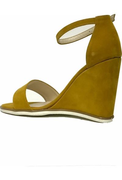 Tarçın 5005-15 Feta Günlük Kadın Dolgu Ayakkabı