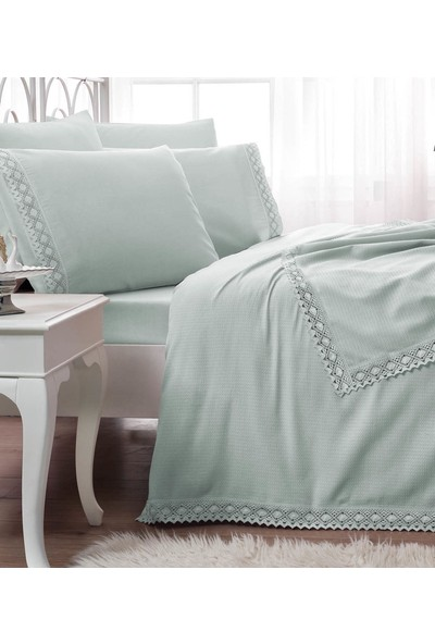 Taç Çift Kişilik Comfort Lace Line Pike Takımı-Frozen Mint