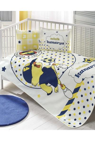 Taç Lisanslı Bebek Pike Takımı-Fenerbahçe Minik Kanarya Baby