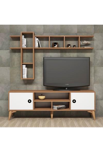 Bimossa D4440 Tv Ünitesi Raflı Dolaplı Modern Görünüm Tv Sehpası