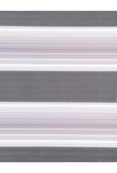 Güneş Perde Brillant Gri-Beyaz Pliseli Zebra 100X200 cm