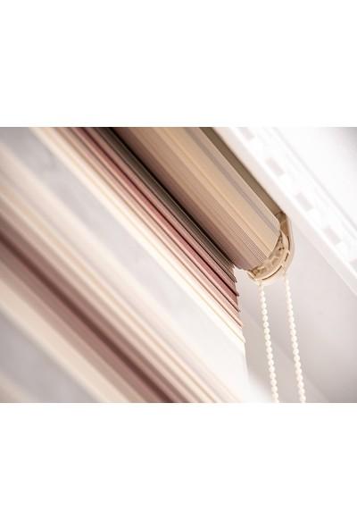 Güneş Perde Brillant Kahve-Krem Pliseli Zebra 100X200 cm