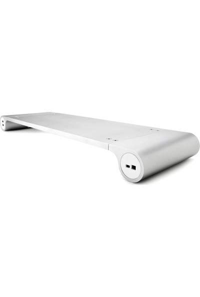 Booyse Alüminyum Masaüstü Monitör Notebook Standı Uzay Bar Kaymaz 4 Port