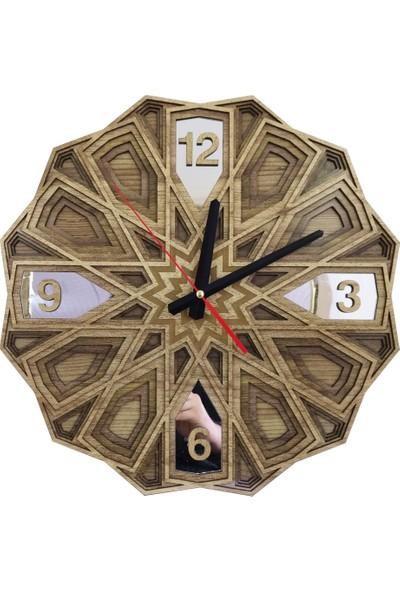 Desen Sanat Özel Tasarım Aynalı Selçuklu Saat