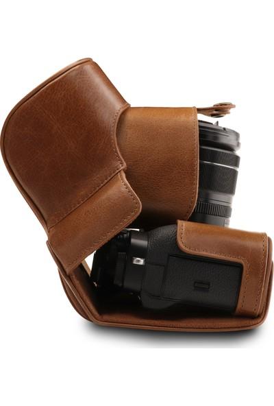 MegaGear Fujifilm X-T3 Gerçek Deri Kamera Çantası
