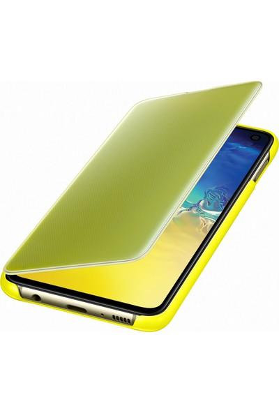 Samsung Galaxy S10e Clear View Cover (Sarı) - EF-ZG970CYEGWW