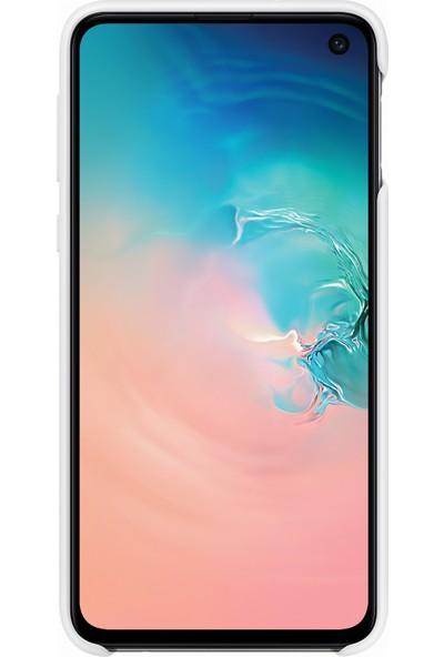 Samsung Galaxy S10e Silicone Cover (Beyaz) - EF-PG970TWEGWW