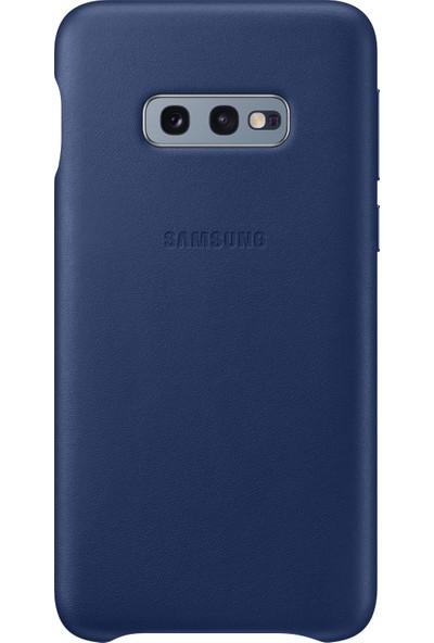 Samsung Galaxy S10e Leather Cover (Gece Mavisi) - EF-VG970LNEGWW