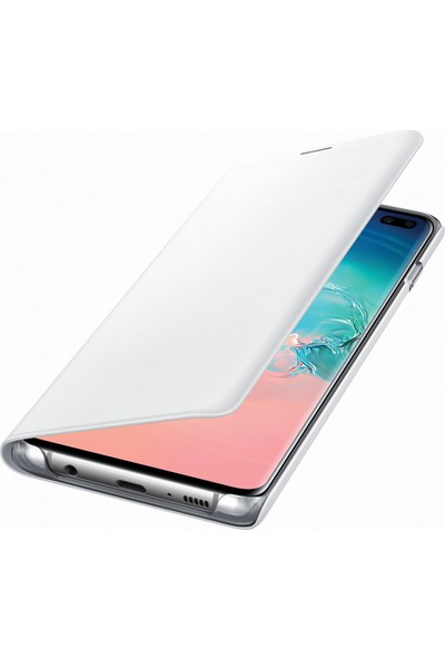 Samsung Galaxy S10+ Led View Cover (Beyaz) - EF-NG975PWEGWW
