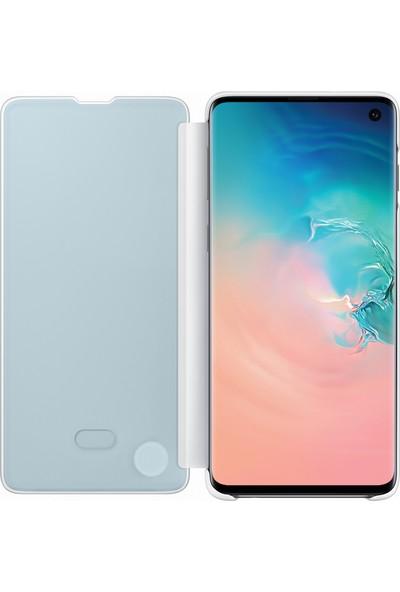 Samsung Galaxy S10 Clear View Cover (Beyaz) - EF-ZG973CWEGWW