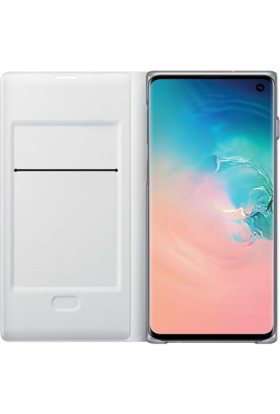 Samsung Galaxy S10 Led View Cover (Beyaz) - EF-NG973PWEGWW