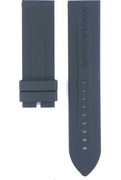 Ztd Strap Emporio Armani Ar0527 23Mm Siyah Silikon Saat Kordonu 434Arm