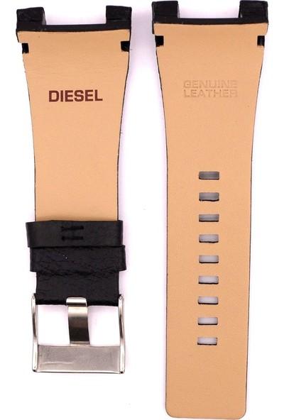 Ztd Strap Diesel Yeni Dz1430 32Mm Siyah Deri Saat Kordonu Dsl147