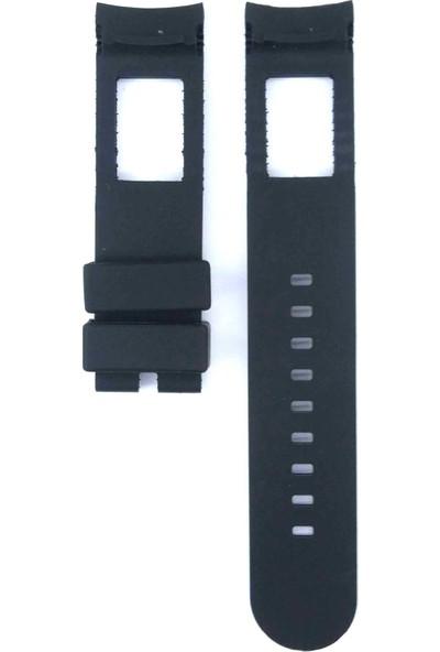 Ztd Strap Armani Exchange Working Chronograph Ar0690 22Mm Siyah Silikon Saat Kordonu 478Arm