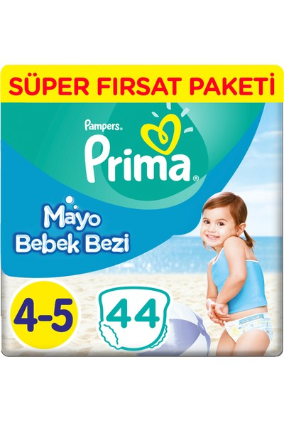 Prima Mayo Bebek Bezi 4 Beden Maxi Fırsat Paketi 44 Adet