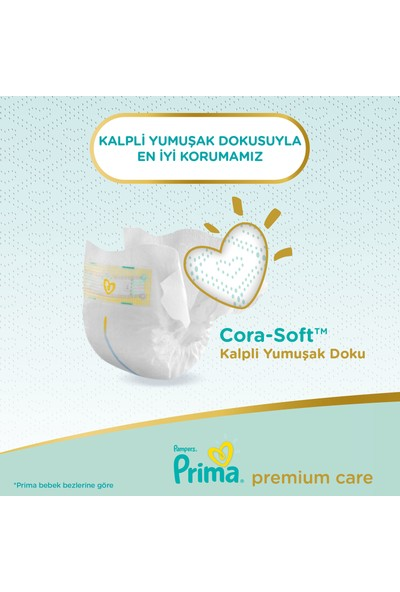 Prima Bebek Bezi Premium Care 2 Beden 148 Adet Mini Fırsat Paketi
