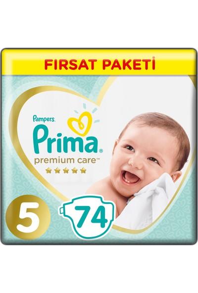 Prima Bebek Bezi Premium Care 5 Beden 74 Adet Junior Fırsat Paketi