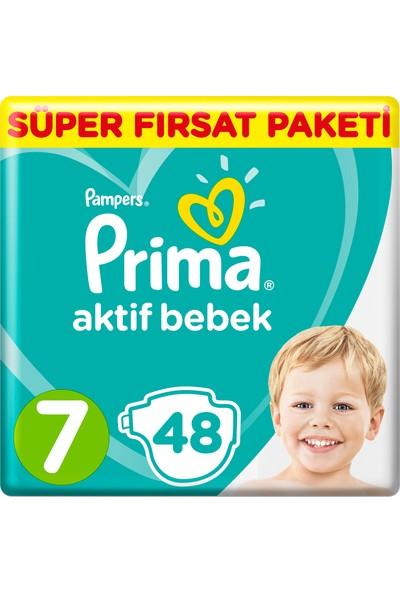 Prima Bebek Bezi Aktif Bebek 7 Beden 48 Adet XX Large Mega Fırsat Paketi