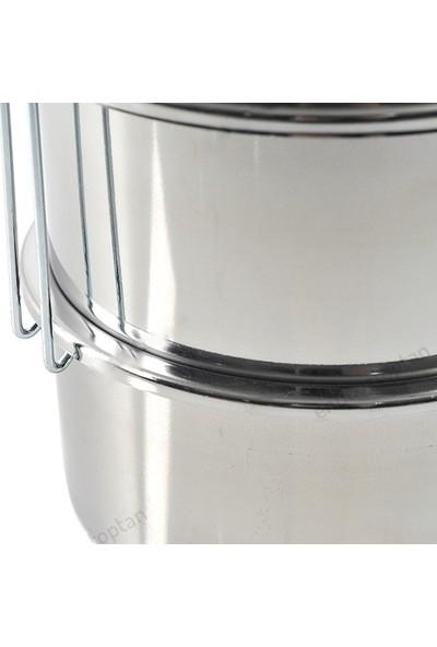 Abant Çelik 3'lü Sefertası Yemek Taşıma Kabı - 14 x 7 cm