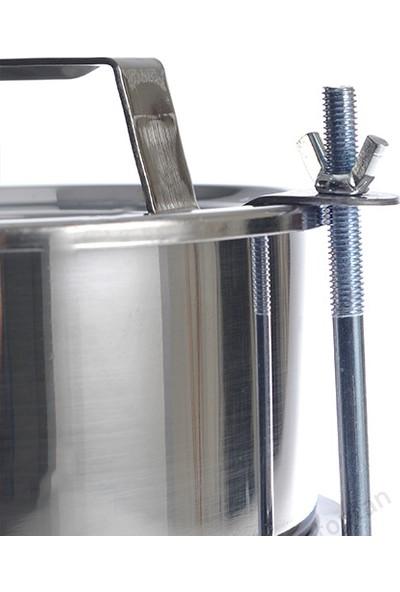 Abant Çelik 3'lü Sefertası Yemek Taşıma Kabı - 16 x 8 cm