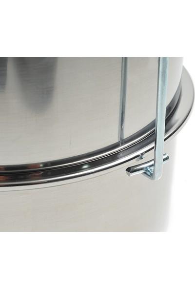 Abant Çelik 3'lü Sefertası Yemek Taşıma Kabı - 30 x 15 cm