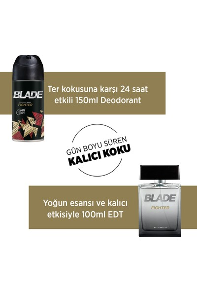 Blade Fighter EDT Erkek Parfüm 100 ml & Deodorant 150 ml