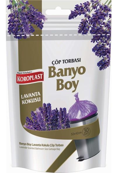Koroplast Lavanta Kokulu Banyo Boy Çöp Torbası 30'lu 32x42 cm