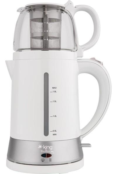 King Çay Makinesi King K 8500 Tea Max Teamax Elektrikli Çay Makinesi Beyaz King Çaycı