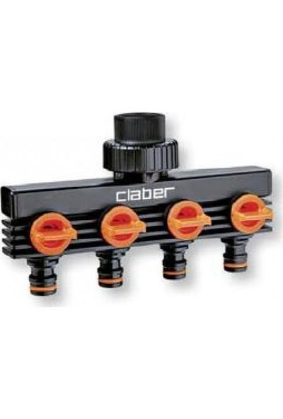 Claber 8581 Dörtlü Musluk Adaptörü