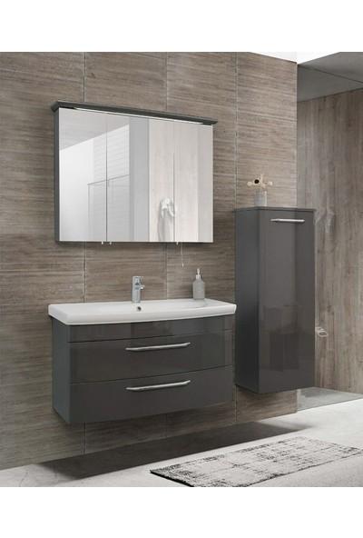 Lineart Asos 920 90Cm Boy Dolaplı Takım Banyo Dolabı