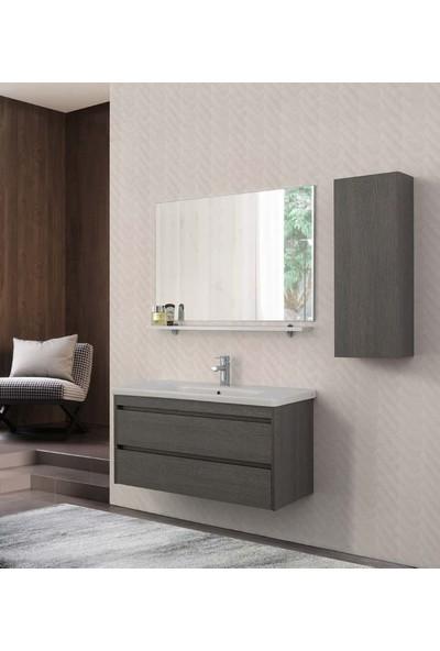 Lineart Soft 1010 100Cm Boy Dolaplı Takım Banyo Dolabı