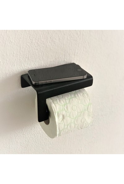 Düz Tuvalet Kağıt Standı Siyah