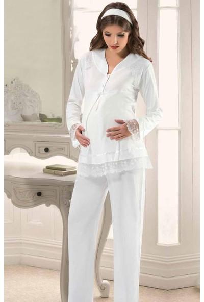 X-Ses Kadın Lohusa Pijama Takımı