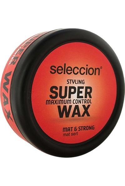 Seleccion Süper Wax 150 Ml Mat&Strong Siyah