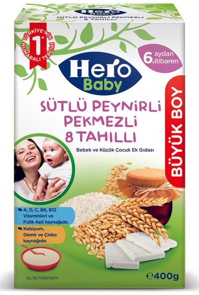 Hero Baby Sütlü Peynirli Pekmezli 8 Tahıllı Kaşık Maması 400 gr