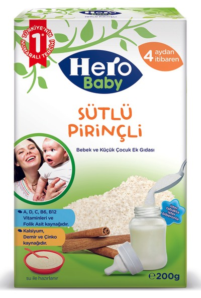 Hero Baby Sütlü Pirinçli Kaşık Maması 200 gr
