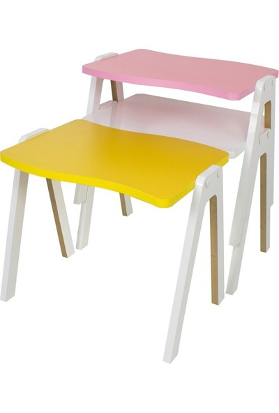 Zigon Sehpa & Orta Sehpa Renkli Model