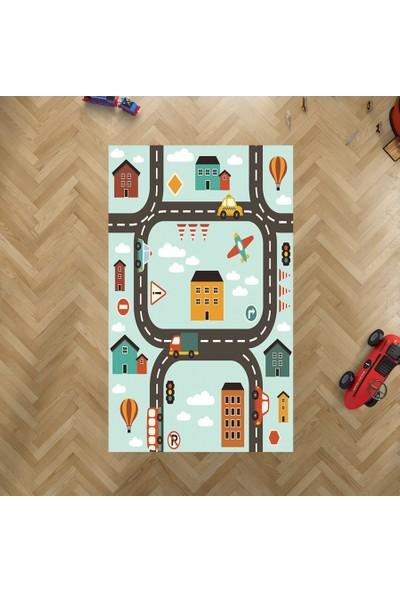 Jungle Halı Yol Desenli Çocuk Odası Oyun Halısı
