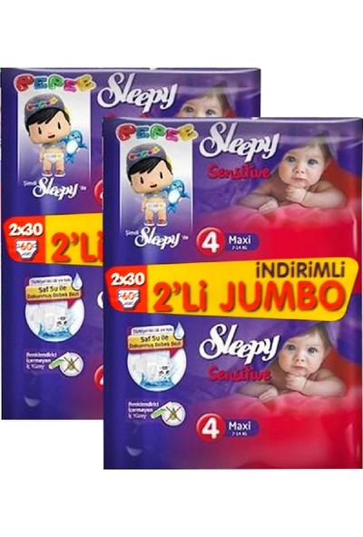 Sleepy Bebek Bezi No:4 Maxi 7 x 14 Kg 60'Lı X 2 Paket 120 Adet