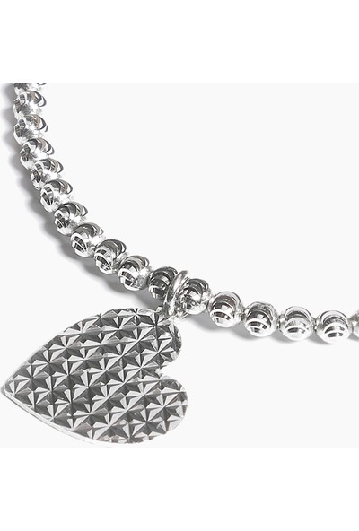 Lapidore Posh Kalp Pullu Gümüş Bileklik