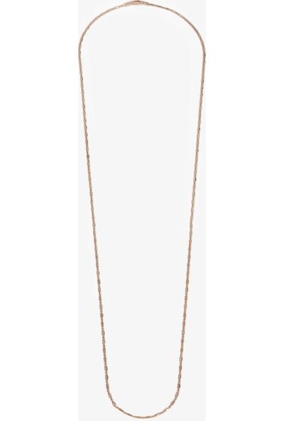 Lapidore İtalyan Top Detaylı Çizgili Pipe Zincir 80 cm