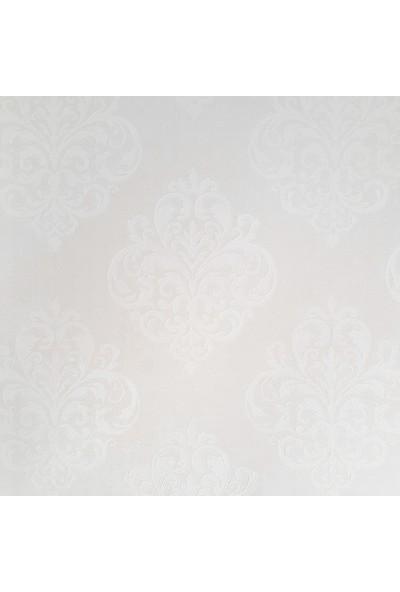 Golden Flamingo 17201 Beyaz Damask Desenli Duvar Kağıdı