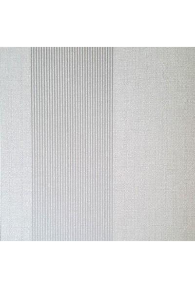 Golden Flamingo 17361 Gri Çizgili Duvar Kağıdı