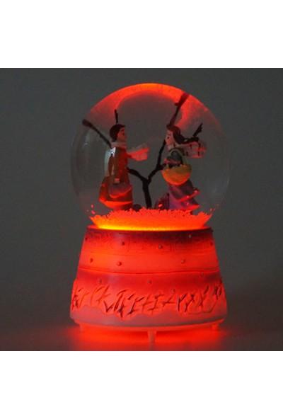 Mory Concept Kış Masalı Kar Küresi Müzikli Otomatik Renk Değiştirmeli Işıklı