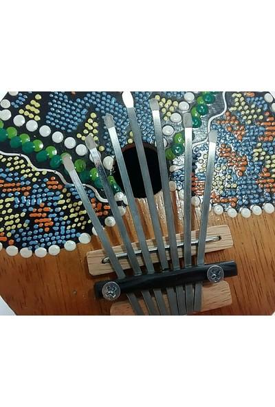 Hindistan Cevizinden El Yapımı Parmak Piyano Kalimba