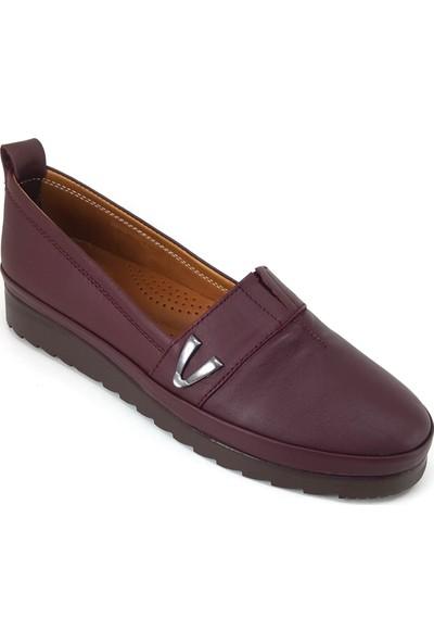 Estile 161 Günlük Kadın Ayakkabı Bordo