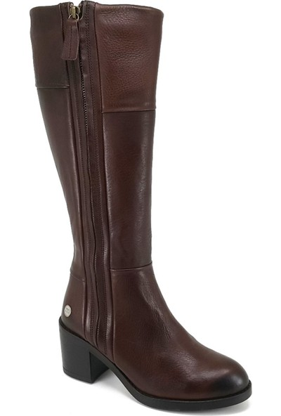 Mammamia 2145 Günlük Kadın Çizme Kahverengi