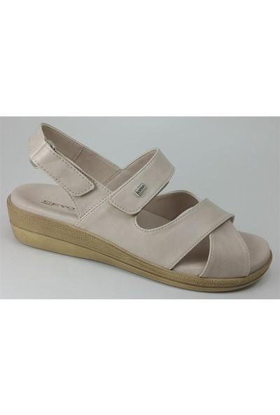 Ceyo 9863-12 Kadın Sandalet Bej