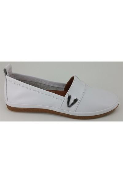 Estile 61 Günlük Kadın Ayakkabı Beyaz
